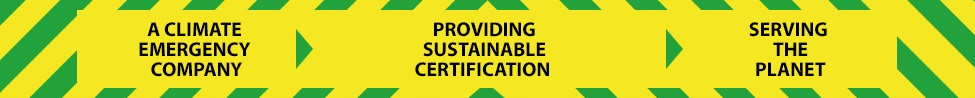 Sustainable certification banner