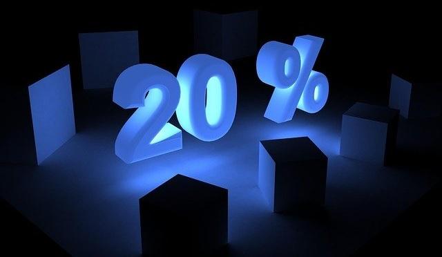 20 per cent discount