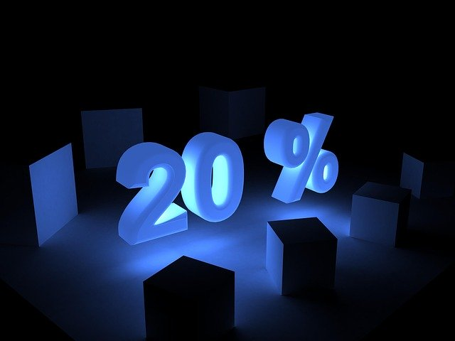 Save 20 per cent
